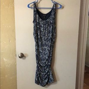 Dana Bachman ruched side dress
